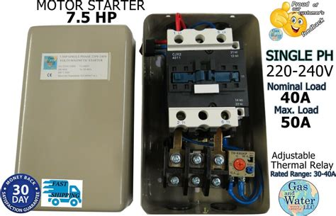 magnetic motor starter control  hp single phase