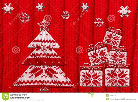 pattern for christmas tree box christmas tree and gift shapes cut from knitted pattern
