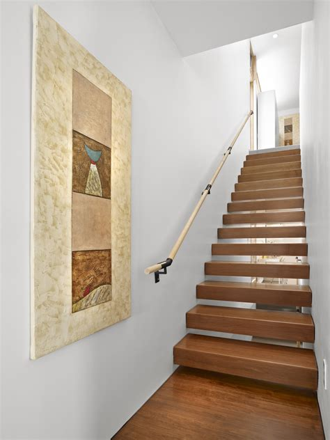 Glamorous stair handrail fashion edmonton modern staircase decorating ideas with artwork