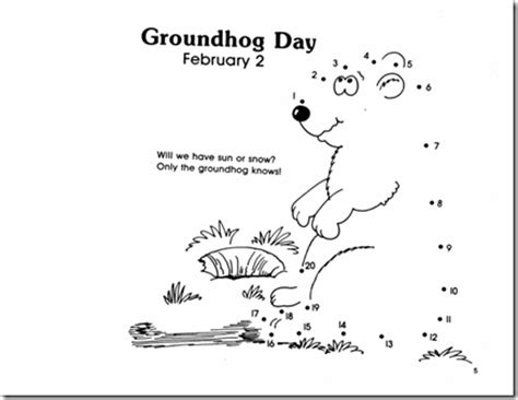 groundhog day free out a simple groundhog shape actually cut out two make