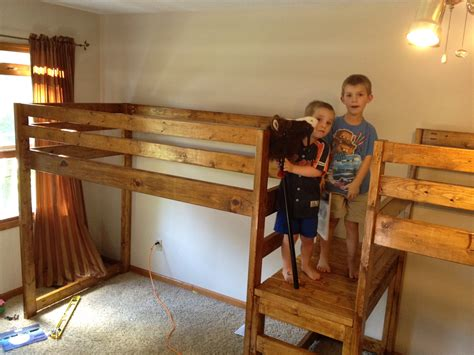 boys loft beds ana white double wide c loft bed diy projects