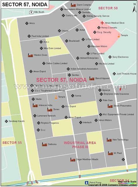 Sector 57 Noida Map