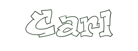 coloring page first name carl