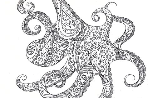 pattern drawing octopus octopus drawing a suitable cephalopod fine art giclee