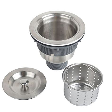 kitchen sink strainer assembly kone 3 1 2 inch kitchen sink strainer with removable