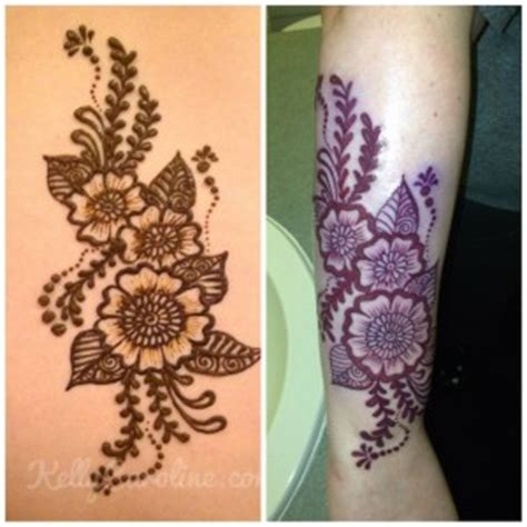 henna permanent tattoo caroline