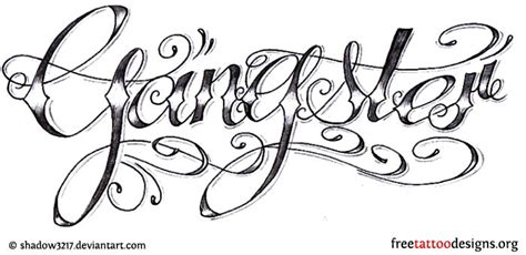 gangster lettering tattoo designs 23 wonderful gangster designs