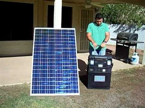 solar powered generator for an emergency situation