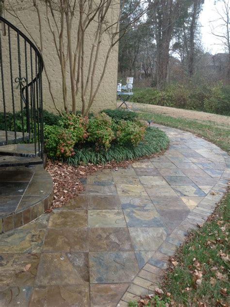 slate walkway floor tile steps pinterest