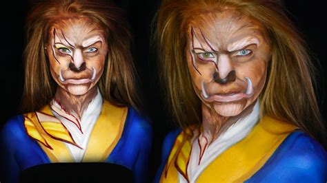 Makeup Makeover And The Beast how to become beast from and the beast