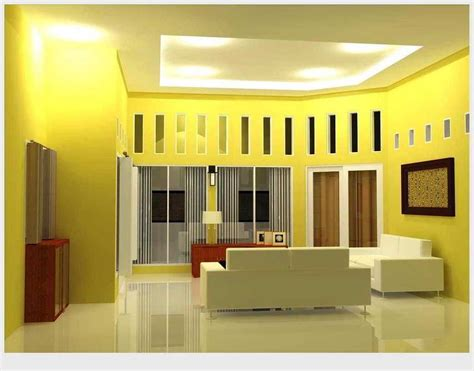 Merk Cat Tembok Untuk Ruang Tamu ツ 19 contoh kombinasi warna cat plafon ruang tamu yang