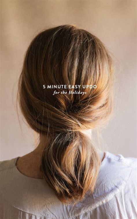7 Hairstyles For The Holidays by 5 Minute Easy Updo For The Holidays Hair