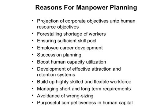 project manpower planning template manpower planning