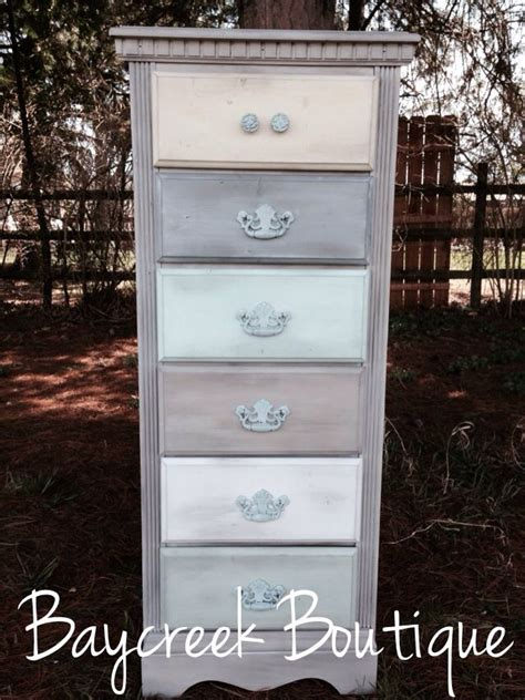 Dresser With Different Colored Drawers ombr 233 dresser white washed with different colored drawers