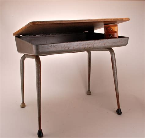 vintage midcentury lift top childrens school desk haute