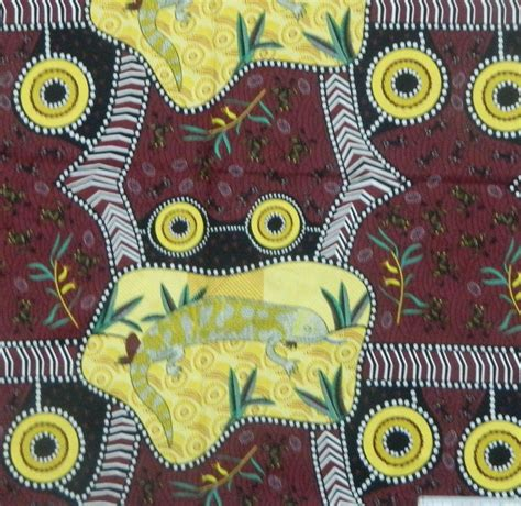 Patchwork And Quilting Fabric - patchwork quilting sewing fabric aboriginal lizard panel