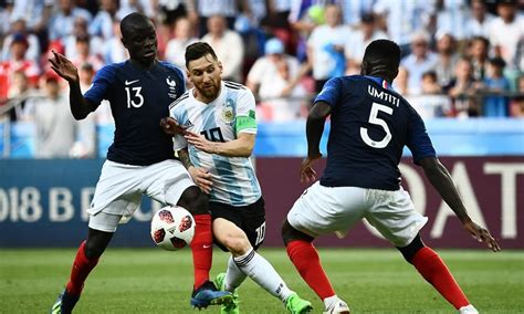 messi themes jar france beat messi s argentina 4 3 to reach world cup