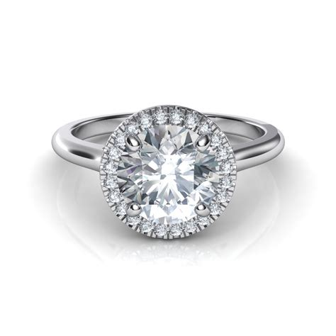 Ring With Diamonds Around It by Plain Shank Floating Halo Engagement Ring