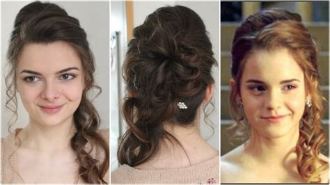 emma watson yule ball hairstyle hermione s yule ball hair tutorial youtube