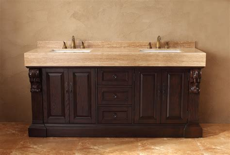 72 inch double sink bathroom vanity in dark cherry
