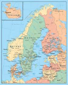 Map Of Baltic States by Maps Of Baltic And Scandinavia Detailed Political