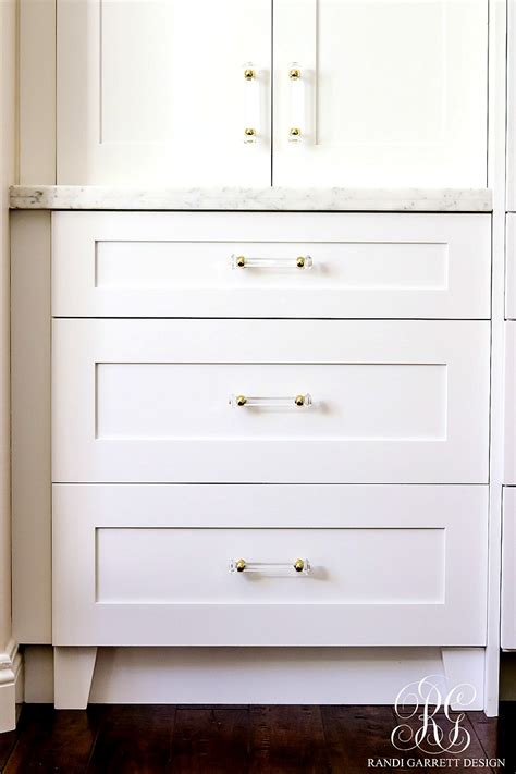 Kitchen Storage Cabinets With Drawers dark to light kitchen before and after elegant white