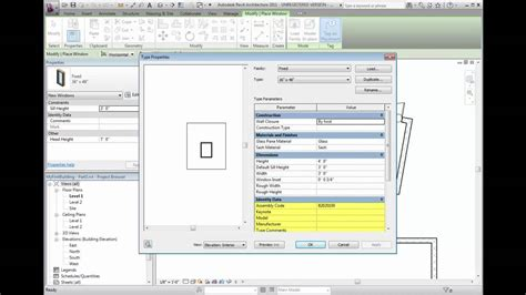 tutorial of revit architecture 2011 revit architecture 2011 tutorial creating windows youtube