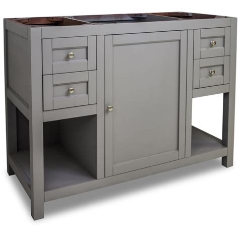 bathroom vanities 48 inches wide jeffrey alexander van103 48 grey astoria modern collection