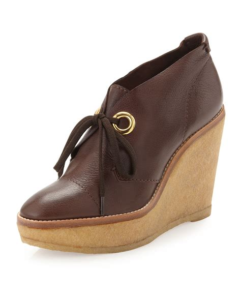 wedge brown boots andrew platform wedge ankle boots brown in purple