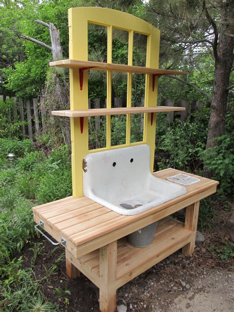 outdoor potting bench plans montana wildlife gardener repurposed potting bench