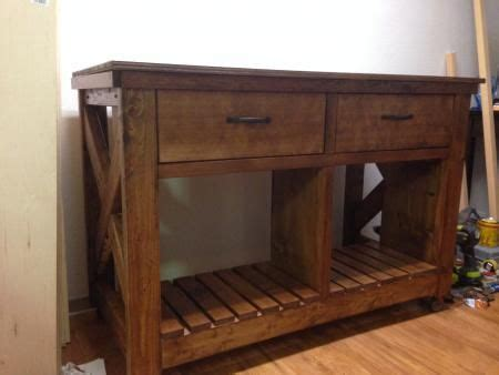 our first do it yourself kitchen first project rustic x kitchen island do it yourself
