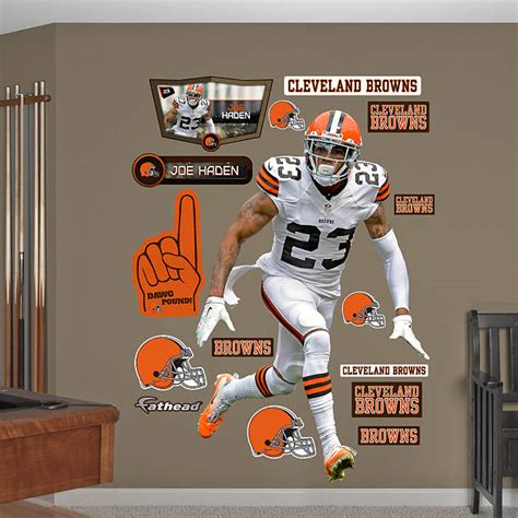 cleveland browns home decor life size joe haden wall decal shop fathead 174 for