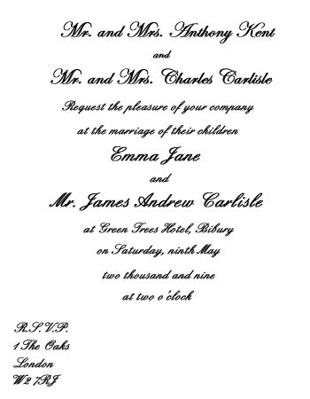 wedding invitation message from groom wedding invitation wording etiquette