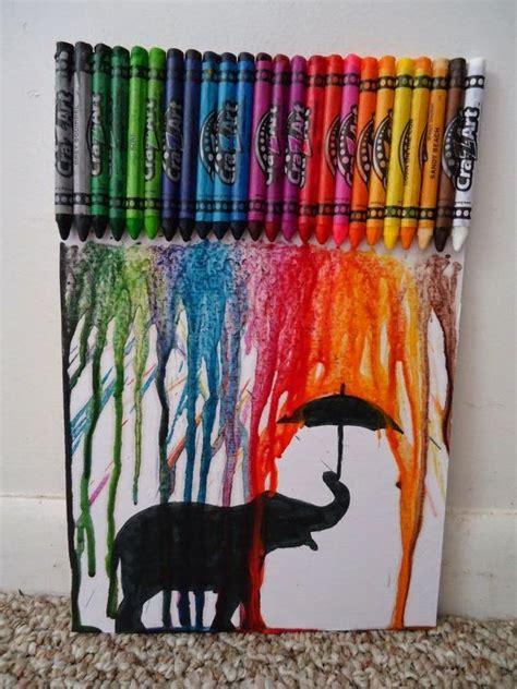 cuadro con ceras derretidas cuadros con crayones derretidos buscar con