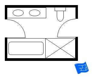 Houseplanshelper by Jack And Jill Bathroom Floor Plans