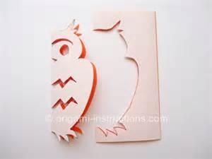 kirigami owl instructions