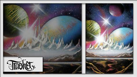 spray paint landscape by trasher spray paint cosmic by trasher