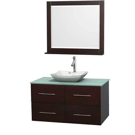 Glass Vanity Countertop by Wyndham Collection Wcvw00942sesgggs3m36 Centra 42 Inch
