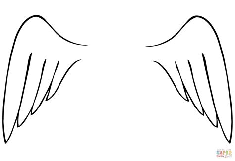 angel wings coloring page free printable coloring pages