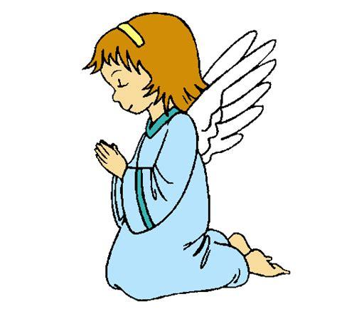 imagenes de niños orando de rodillas dibujo de 193 ngel orando pintado por angel en dibujos net el