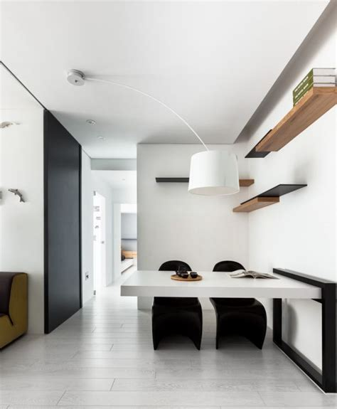 minimalist one room apartment classical black and white apartment with a modern touch
