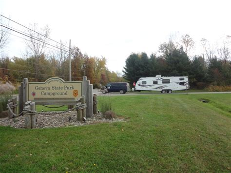Ohio Cgrounds With Cabins by Geneva State Park Ohio The Touring Cer