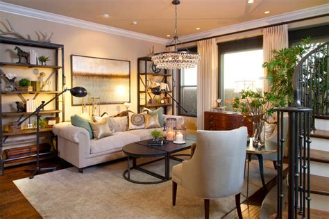 Transitional Style Living Room by Robeson Design Transitional Style Living Room Living Room San Diego By