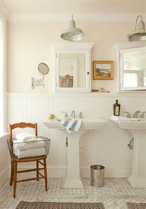 his and her medicine cabinets cottage bathroom rue