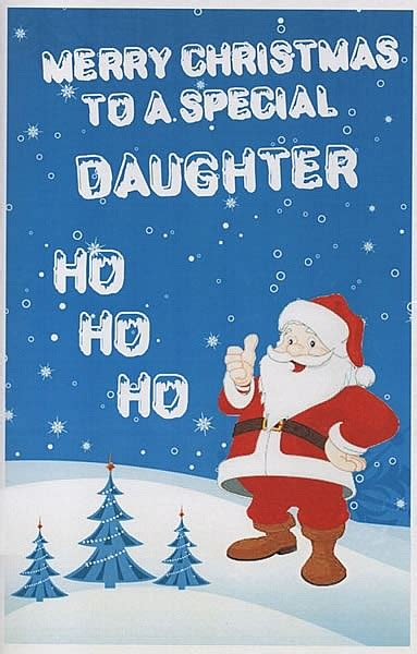 female relation christmas cards merry christmas   special daughter