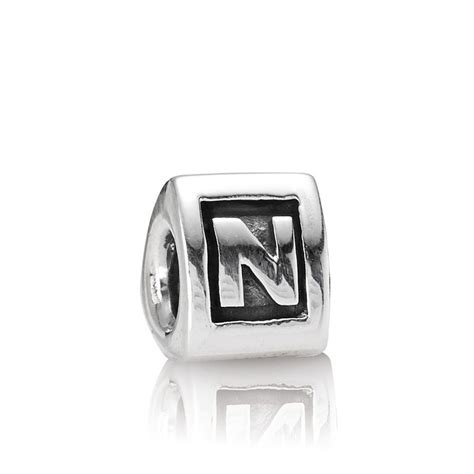 pandora alphabet pandora letter n alphabet charm pandora from gift and wrap uk