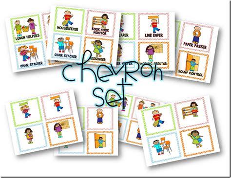 printable job cards for classroom classroom helpers free clip art