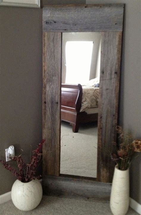 home decorating mirrors full length barn wood mirror home decorating diy