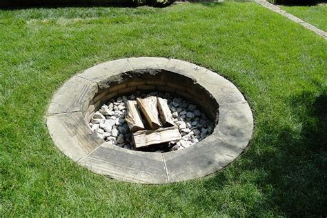 In Ground Firepit In Ground Pit Garden Rooms
