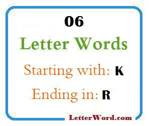 Six Letter Words Starting With R